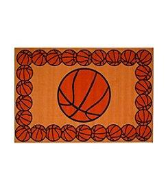 Fun Rugs® Fun Time® Basketball Time Rug