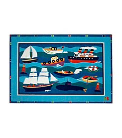Fun Rugs® Olive Kids Boats and Buoys Rug