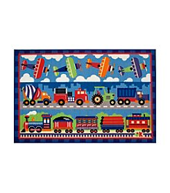 Fun Rugs® Olive Kids Trains, Planes, and Trucks Rug