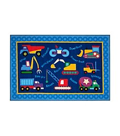 Fun Rugs® Olive Kids Under Construction Rug
