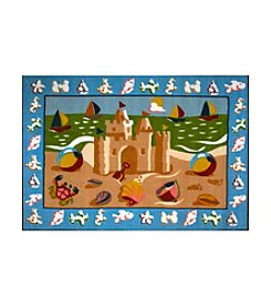Fun Rugs® Olive Kids Sand Castle Rug