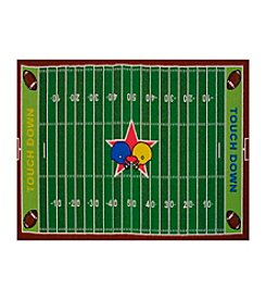 Fun Rugs® Fun Time® Football Field Rug