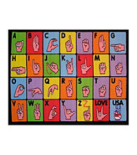 Fun Rugs® Fun Time® Sign Language Rug