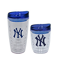 TNT Media Group New York Yankees Slimline Tumbler with Color Lid