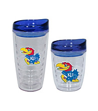 TNT Media Group Kansas Jayhawks Slimline Tumbler with Color Lid