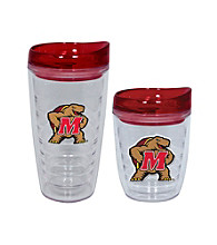 TNT Media Group Maryland Terripins Slimline Tumbler with Color Lid