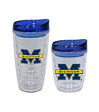 TNT Media Group Michigan Wolverines Slimline Tumbler with Color Lid