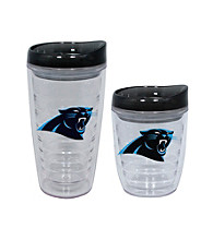 TNT Media Group Carolina Panthers Slimline Tumbler with Color Lid