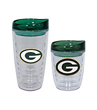 TNT Media Group Green Bay Packers Slimline Tumbler with Color Lid