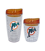 TNT Media Group Miami Dolphins Slimline Tumbler with Color Lid