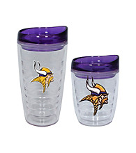 TNT Media Group Minnesota Vikings Slimline Tumbler with Color Lid