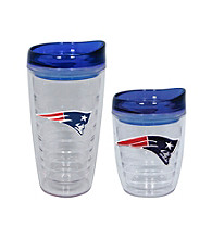 TNT Media Group New England Patriots Slimline Tumbler with Color Lid