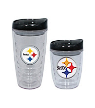 TNT Media Group Pittsburgh Steelers Slimline Tumbler with Color Lid