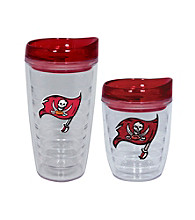 TNT Media Group Tampa Bay Buccaneers Slimline Tumbler with Color Lid