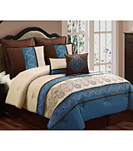 Sandra 8-pc. Comforter Set by Home Fashions International