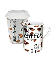 Waechtersbach Konitz Coffee Collage Set of 2 Mugs