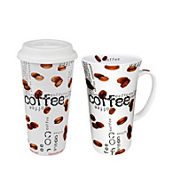Waechtersbach Konitz Coffee Collage Set of 2 Mega Mugs