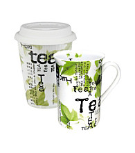 Waechtersbach Konitz Tea Collage Set of 2 Mugs