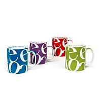 Waechtersbach Konitz Script Collage Set of 4 Mugs