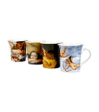 Waechtersbach Konitz Angel Art Set of 4 Mugs