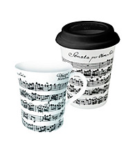 Waechtersbach Konitz Vivaldi Libretto Set of 2 Art Mugs