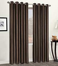 Faux Leather Grommet Panel by United Curtain Co.