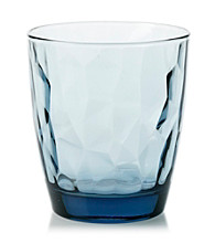 LivingQuarters Diamond Double Old Fashion Glass