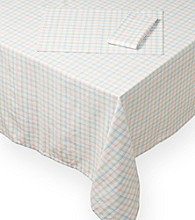 LivingQuarters Spring Check Table Linens