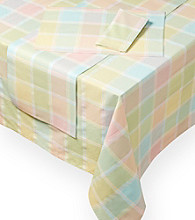 LivingQuarters Multi-Plaid Spring Table Linens