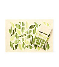 LivingQuarters Ribbon Leaf Table Linens
