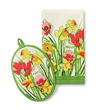 Vera Daffodils Pot Holder or Kitchen Towel