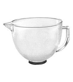 KitchenAid® 5-qt. Stand Mixer Hammered Glass Mixing Bowl