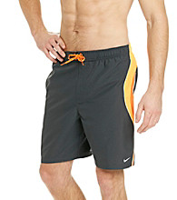 Nike® Men's Bright Citrus Grey Revolve Colorblock Swim Shorts