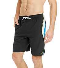 Nike® Men's Cyber Blue Revolve Colorblock Swim Shorts