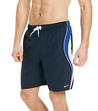 Nike® Men's Obsidian Navy Revolve Colorblock Swim Shorts