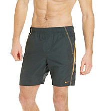 Nike® Men's Anthracite Grey Core Velocity Swim Shorts
