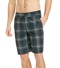 Columbia Men's Black Laser Plaid Waterton Shorts