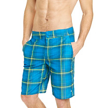 Columbia Men's Hyper Blue Laser Plaid Waterton Shorts