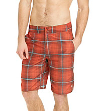 Columbia Men's Red Rocks Laser Plaid Waterton Shorts