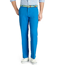 Izod® Men's Strong Blue Saltwater Straight Leg Flat Front Pant