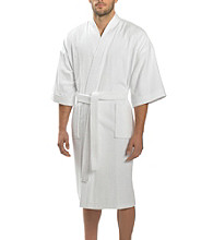 Majestic Men's Big & Tall Terry Velour Kimono Robe