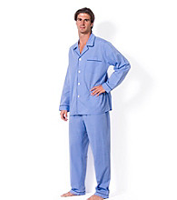 Majestic Men's Big & Tall Blue 'Easy Care' Pajama Set
