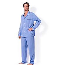 Majestic Men's Big & Tall Blue Basic End-on-End Pajama Set