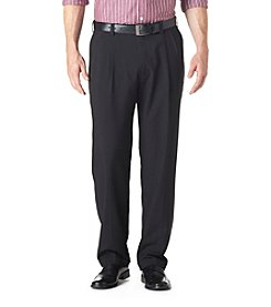 Haggar® Men's Big & Tall Black Classic Fit Pleated Repreve Pant
