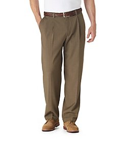 Haggar® Men's Big & Tall Khaki Classic Fit Pleated Repreve Pant