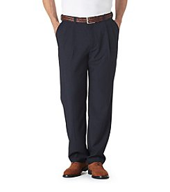 Haggar® Men's Big & Tall Navy Classic Fit Pleated Repreve Pant