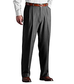 Haggar® Men's Big & Tall Medium Grey Classic Fit Pleated Repreve Pant