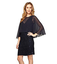 Alex Evenings® Lace Sheath With Cape