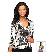 Alex Evenings® Satin Printed Twinset