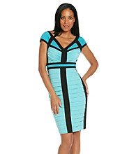 JAX® Banded Colorblocked Sheath Dress